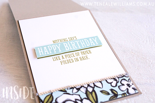 By Teneale Williams | Stampin' Up! Petal Passion DSP coloured with Stampin' Blends