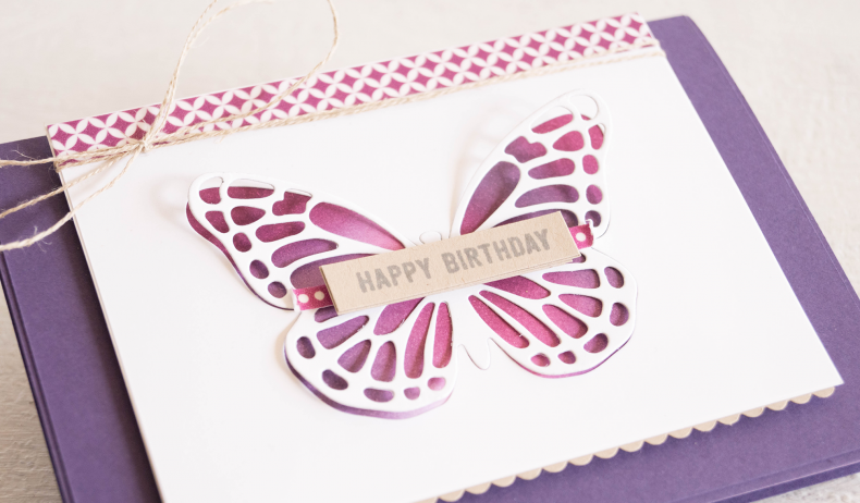 By Teneale Williams | Butterflies Thinlits from Stampin' Up! | Negative Cut Thinlit