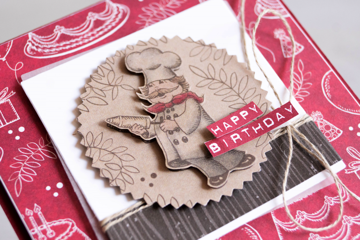 By Teneale Williams | Birthday Memories Designer Series Paper from Stampin' up! | Chef Birthday card