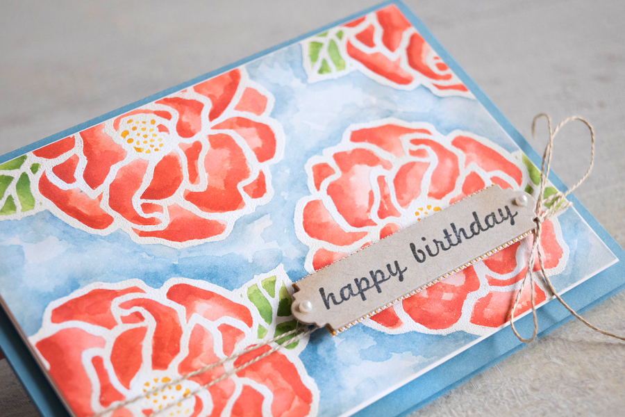 By Teneale Williams | Beautiful Day Stamp Set from Stampin' Up! | Watercolour and Heat Embossing Technique