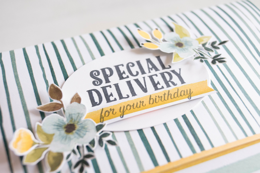 By Teneale Williams | Stampin' Up! Whole lot of Lovely DSP with Birthday Delivery Stamp set
