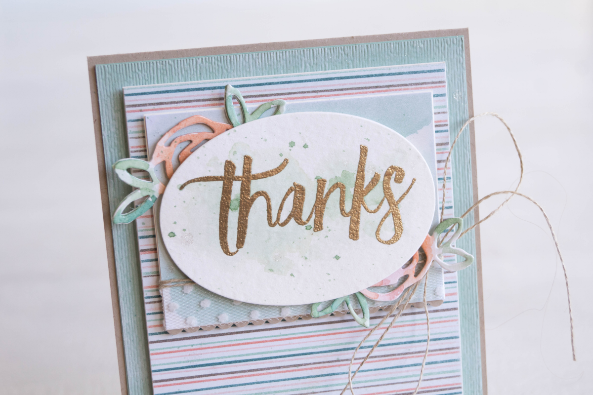 By Teneale Williams | Stampin' Up! products used on watercolour thanks card with flowers