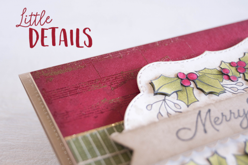 By Teneale Williams Blended Season from Stampin' Up! Heat Embossing details