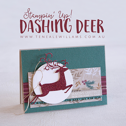 Card by Teneale Williams | Detailed Deer Thinlits from Stampin' Up!