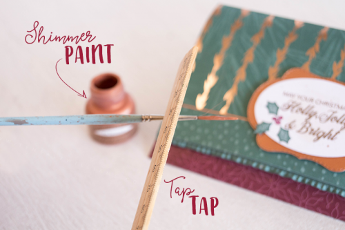 Teneale Williams Stampin' Up! Create splatter with Shimmer Paint