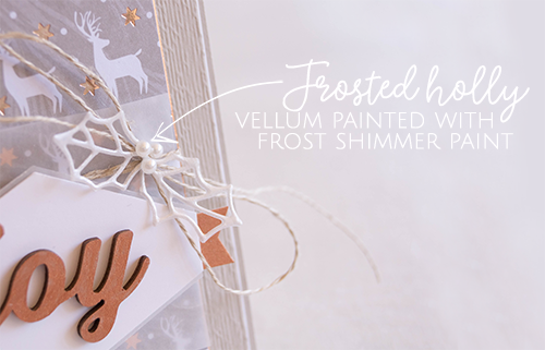 By Teneale Williams | Use White Shimmer Paint to create frosted holly