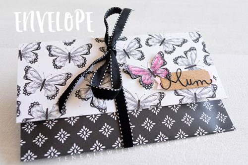 By Teneale Williams | Stampin' Up! Products Current Sale-A-Bration Botanical Butterfly DSP and retired printed papers