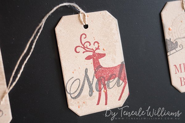 By Teneale Williams | Christmas Tags using STampin' Up! Stamp Set | Downline Team Training Make and Take