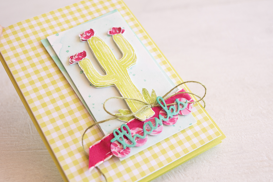 By Teneale Williams | Stampin' Up Flowering Desert STamp Set | Fancy Friday blog hop