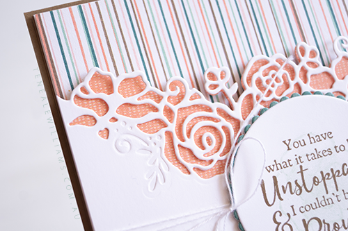 By Teneale Williams | Stampin' Up! Handmade card | Strong & Beautiful Stamp Set and Forever Lovely Photopolymer Bundle