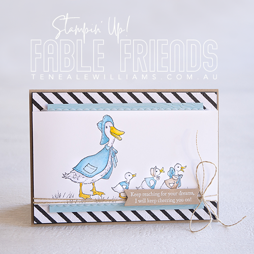 Teneale Williams | Stampin' Up! Fable Friends colour with Stamping Blends | Leadership card
