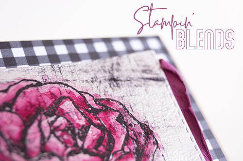 Teneale Williams | Stampin' Up! Graceful Garden Stamp Set | Black Ice cardmaking