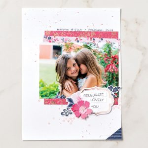 Teneale Williams | Stampin' Up! Australia | Everything Is Rosy Scrapbook Page