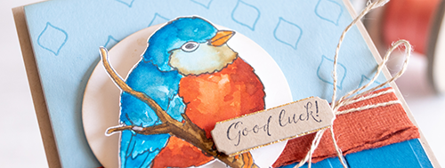 Better with you by Teneale Williams | Stampin' Up! Watercolour bird card