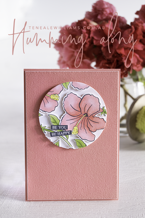 By Teneale Williams | Humming Along Stamp Set from Stampin' Up! Australia | Floating technique