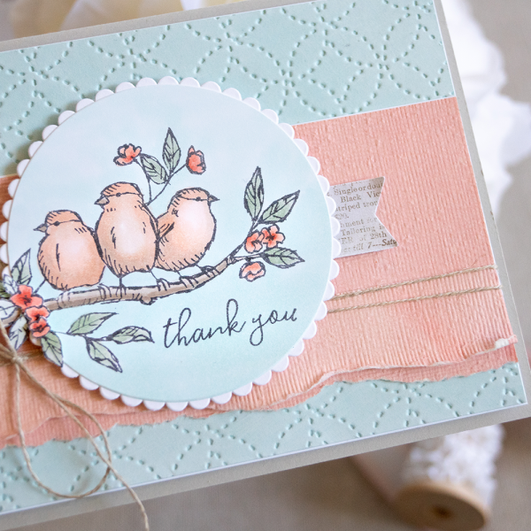 Card by Teneale Williams | Free As A Bird from Stampin' Up! | Images coloured with Stampin' Blends