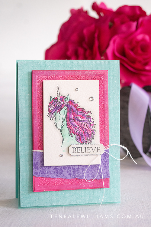 Leave A Little Sparkle Stampin Up by Teneale Williams
