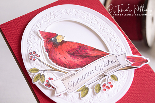 Toile Christmas Bundle STampin Up Christmas 2019 cardmaking handstamped Teneale Williams Australia Cardinals are known to represent faith, hope, and love