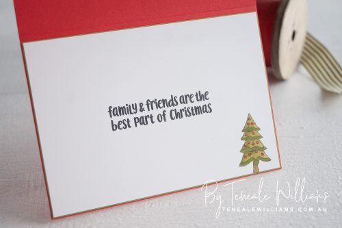 Christmas Crowd stamp set from Stampin Up card designed by Teneale Williams