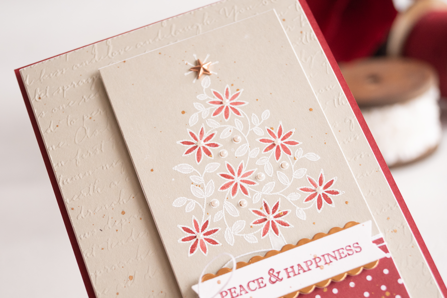 BLOG Teneale Williams Stampin up Shine Bright Stamp Set White Wash embossing Slider