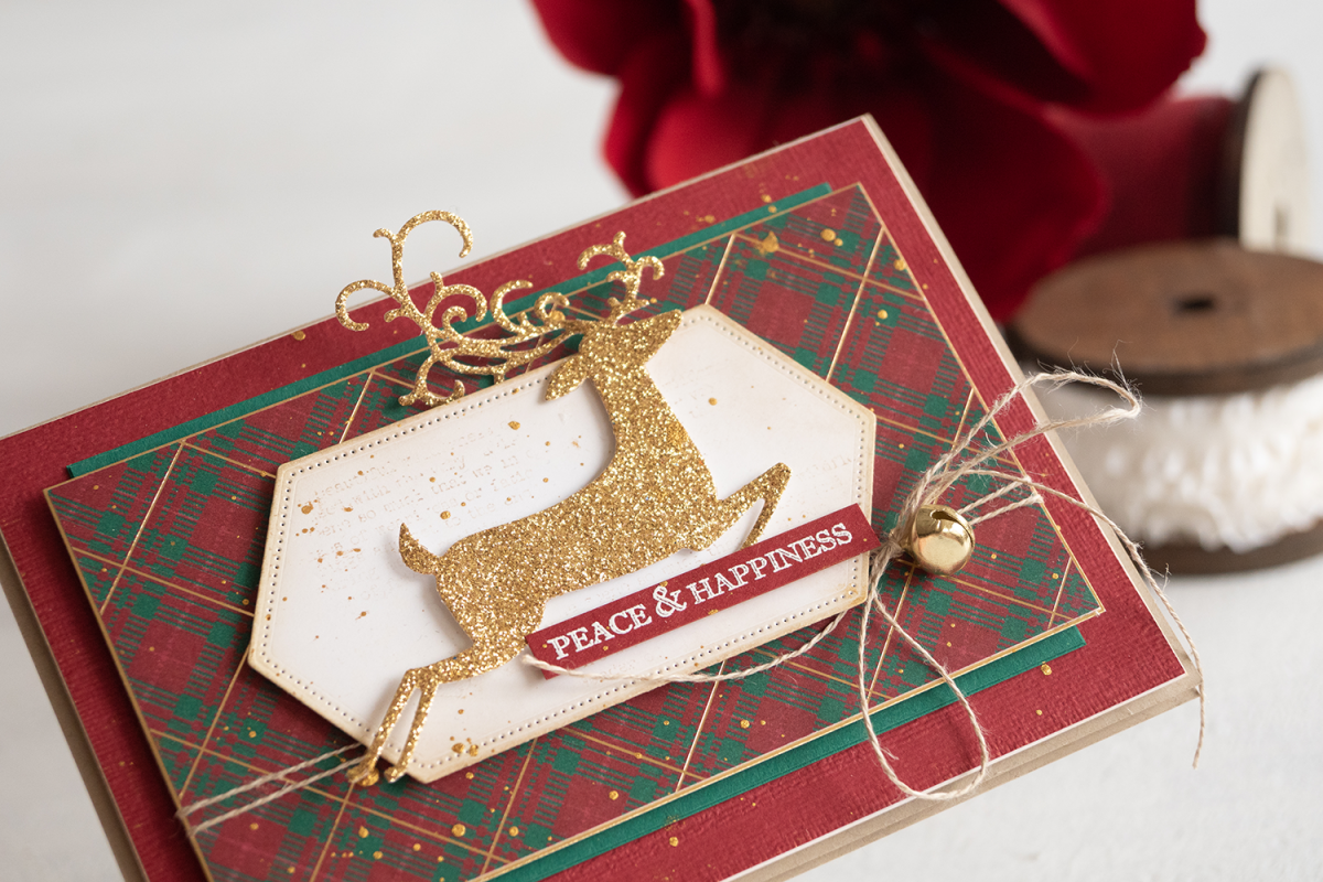 Teneale Williams Stampin Up Wrapped In Plaid DSP Christmas Card