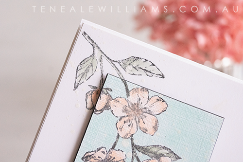 Card ByTeneale Williams using Forever Blossoms Cling from Stampin up Corner