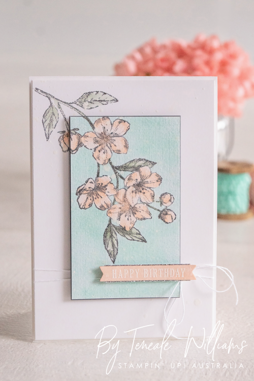 Card ByTeneale Williams using Forever Blossoms Cling from Stampin up Front