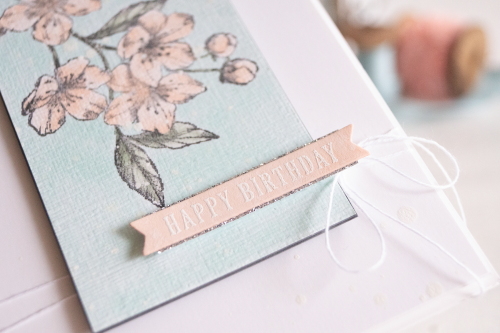 Card ByTeneale Williams using Forever Blossoms Cling from Stampin up SLIDER white