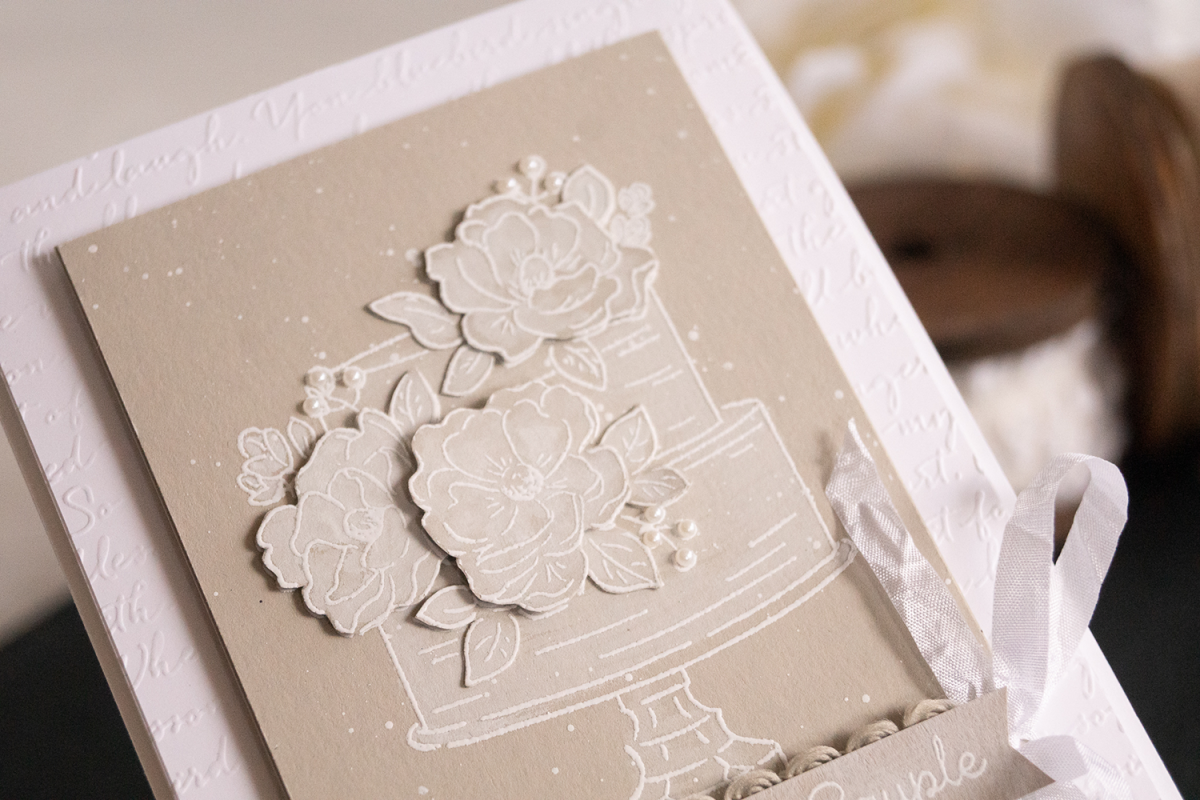 Card by Teneale Williams using Stampin' Up! Happy Birthday To You Cling Stamp Set White Wash Technique
