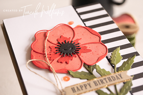 By Teneale Williams Poppy Moments Dies Birthday Card Stampin Up