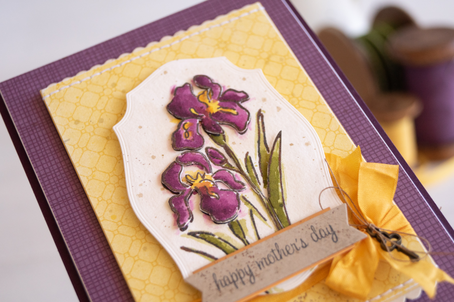 By Teneale Williams Inspiring Iris Photopolymer Stamp Set from Stampin Up Mothers day card
