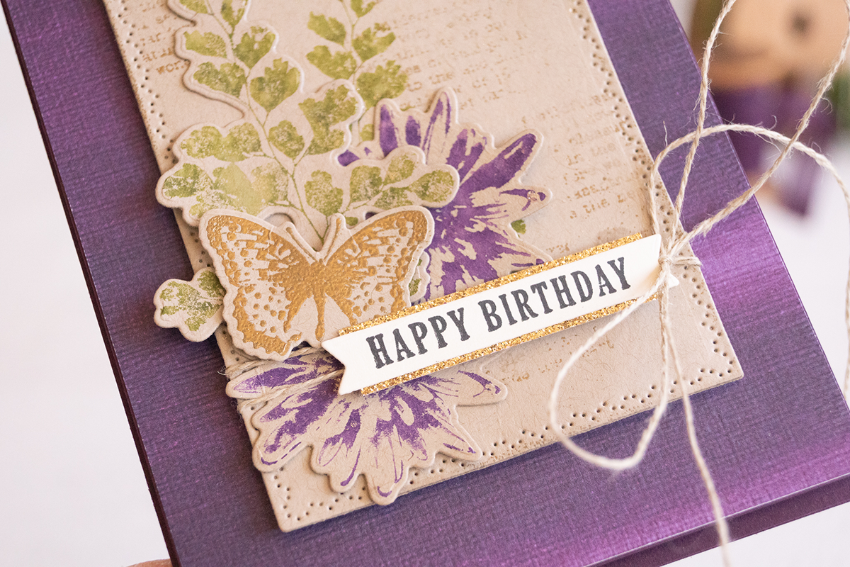 By Teneale Williams using Nature's Thoughts Dies and Positive Thoughts Cling Stamp Set from Stampin' Up!
