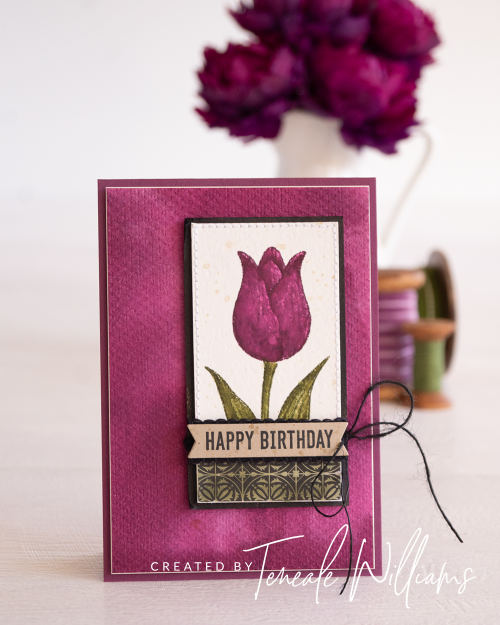 Timeless Tulips by Teneale Williams Stampin Up Stamp Set Watercolour