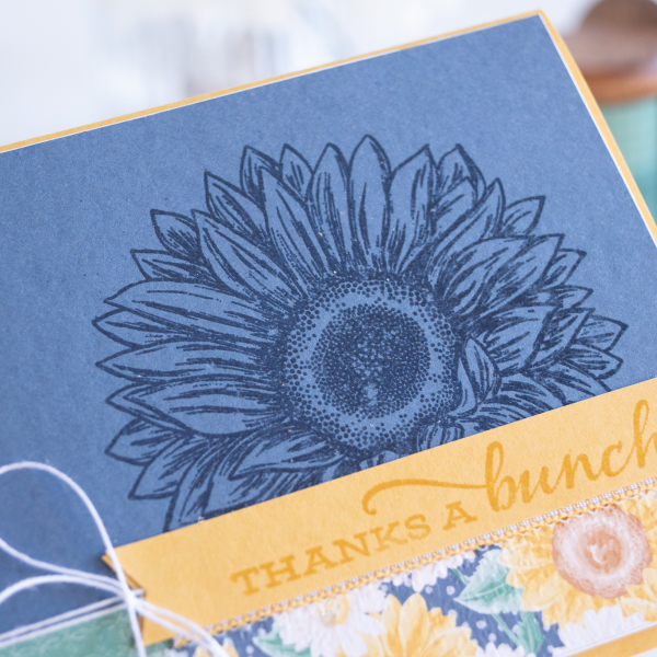 Celebrate Sunflowers Stamp from Stampin Up card by Teneale Williams