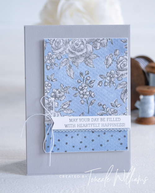 By Teneale Williams Fancy Phrases Stamp Set Stampin Up Australia Cardmaking create your own DSP The spot Challenege