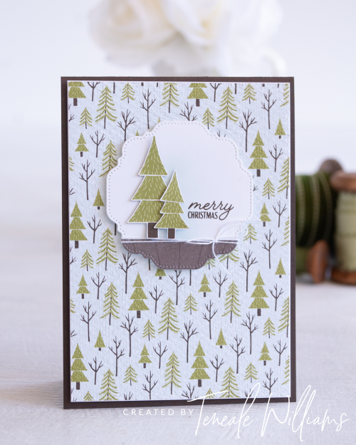 By Teneale Williams Trimming The Town DSP Stampin Up Australia Cardmaking The spot Challenge Card idea