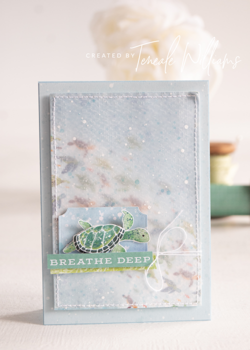 By Teneale Williams Whale of a time DSP Stampin Up Australia Cardmaking Just keep swimming dory
