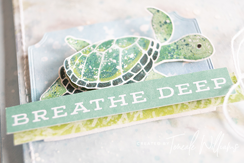 By Teneale Williams Whale of a time DSP Stampin Up Australia Card Breathe Deep
