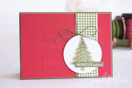 By Teneale Williams Wrapped In Christmas Stamp Set Stampin Up Australia Card idea