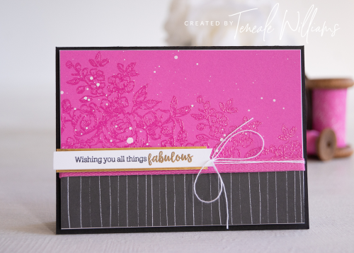 Teneale Williams All Things Fabulous Stampin up rose stamp set