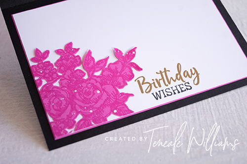 Teneale Williams All Things Fabulous Stampin up rose stamp set Gold Embossing