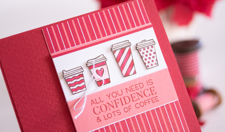 Teneale Williams Stampin Up Press On Coffee card for Friend who loves caffeine