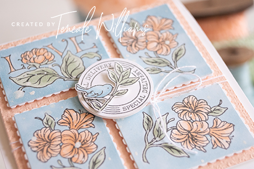 By-Teneale-Williams-Stampin-up-posted-for-you-stamp-set-with-rectangular-postage-stamp-punch-Detail