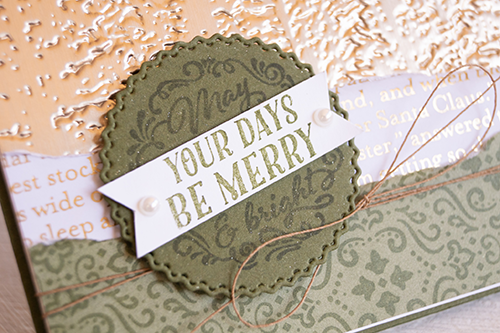 By Teneale Williams Christmas card using evergreen forest 3d embossing folder from Stampin' Up!