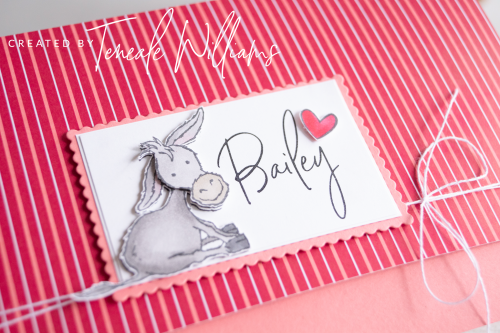 By Teneale Williams card using darling donkeys Sale a bration from stampin up