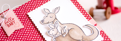 By Teneale Williams kangaroo & company stampin up Stamp up from Stampin Up cute baby card