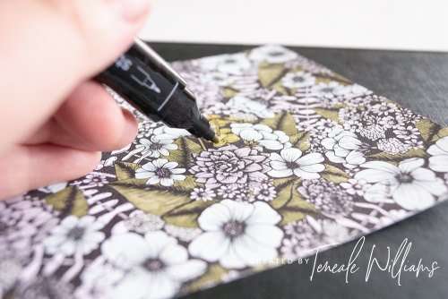By Teneale Williams | One Sheet Wonder using Stampin' Blends with True Love DSP