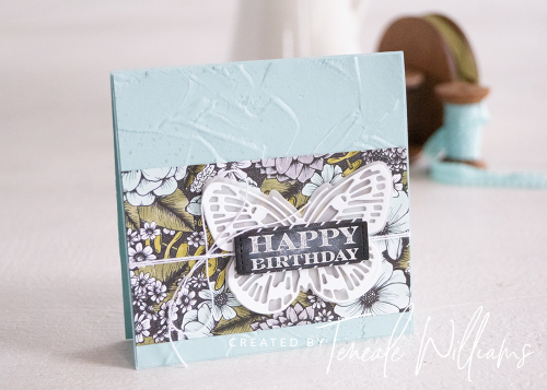 By Teneale Williams | One Sheet Wonder using Stampin' Blends with True Love DSP | Brilliant Wings Dies