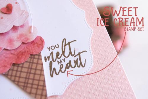 Teneale Williams Sweet Ice Cream Card Stampin Up