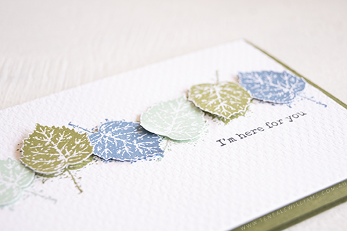 Teneale Williams Gorgeous Leaves and Beauty of Tomorrow Stamp set from Stampin Up